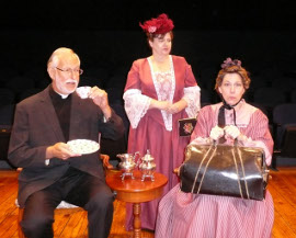 Ray Rogers, Terri Nelson, and Jackie Patterson in The Importance of Being Earnest