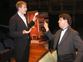 Isaac Ritter and Nathan Johnson in The Importance of Being Earnest