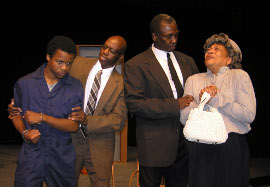 Desmond Grasker, Curtis Wyatt, Joe Obleton, and Betty Cosey in A Lesson Before Dying