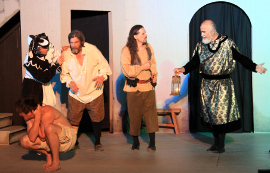 Tyler Henning, James Alt, Pat Flaherty, Todd Schwartz, and Earl Strupp in King Lear
