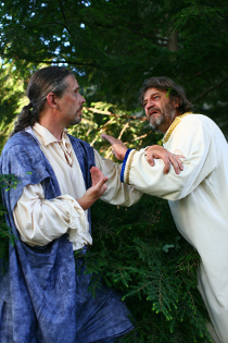 Todd Schwartz and Pat Flaherty in King Lear