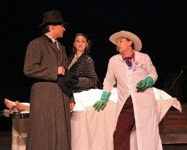 Dryden Meints, Katie Wesler, and Andrew Harth in Red Herring