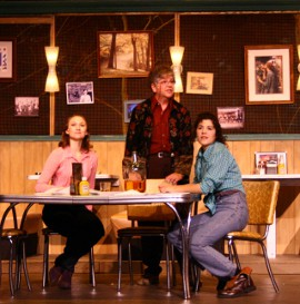 Katie Wesler, Marcia Sattelberg, and Erica Vlahinos in the Timber Lake Playhouse's The Spitfire Grill