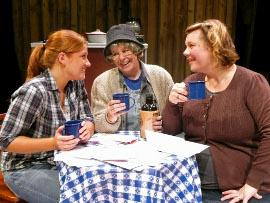 Allison Scherer, Nancy Teerlinck, and Cait Bodenbender in the Richmond Hill Barn Theatre's The Spitfire Grill
