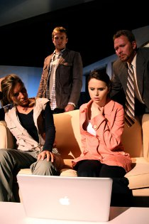 Kimberly Furness, Eddie Staver III, Jessica Denney, and Mike Schulz in Time Stands Still