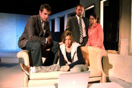 Eddie Staver III, Kimberly Furness, Mike Schulz, and Jessica Denney in Time Stands Still