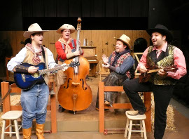 Jon Schweppe, Roger Akers, Bryan Woods, and Nicholas Wallbusser in Make Me a Cowboy