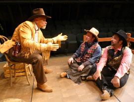 Michael Schmidt, Bryan Woods, and Nicholas Wallbusser in Make Me a Cowboy