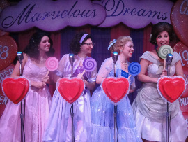 Adrienne Griffiths, Kirsten Sparks, Megan Wheeler, and Shannon McMillan in The Marvelous Wonderettes