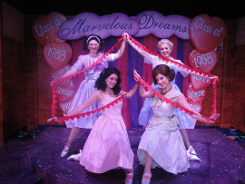 Kirsten Sparks, Adrienne Griffiths, Shannon McMillan, and Megan Wheeler in The Marvelous Wonderettes