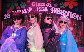 Kirsten Sparks, Shannon McMillan, Adrienne Griffiths, and Megan Wheeler in The Marvelous Wonderettes