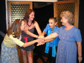Rita Bowen, Melissa Scott, Susan Philhower, and Liz Blackwell in Sex Please, Weire 60