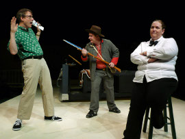 Don Faust, Jacob Stahl, and Lisa Kahn in Leaving Iowa