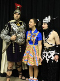 Cody E. Johnson, Stacy Phipps, and Tim Stompanato in Dakota Jones & the Search for Atlantis