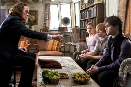 Bill Nighy, Emma Watson, Rupert Grint, and Daniel Radcliffe in Harry Potter & the Deathly Hallows: Part 2