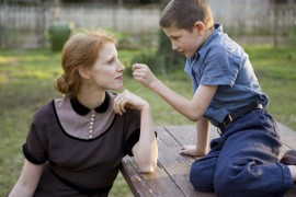 Jessica Chastain and Laramie Eppler in The Tree of Life