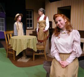 Katie Moore, Karen Decker, and Sydney Crumbleholme in Anne of Avonlea