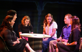 Jacquelyn Schmidt, Michael Pazzol, Amy Sanders, Robin Quinn, Mike Schulz, and Jo Vasquez in How I Learned to Drive