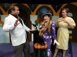 Tom Bauer, Pami Triebel, and Faith R. Hardacre in If It's Monday, This Must Be Murder