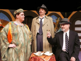 Lisa Kahn, Mike Schmidt, and Bill Bates in If It's Monday, This Must Be Murder