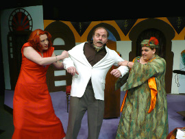Sara Wegener, Tom Bauer, and Lisa Kahn in If It's Monday, This Must Be Murder