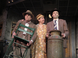 Andrew Crowe, Rachelle Walljasper, and Steve Lasiter in Southern Crossroads