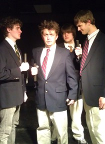Benjie Lewis, Aaron Lord, Max Moline, and Andrew Bruning in Spring Awakening