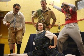 Tyler Finley, Christine Goodall, Troy Stark, and Dan Pepper in The 25th Annual Putnam County Spelling Bee