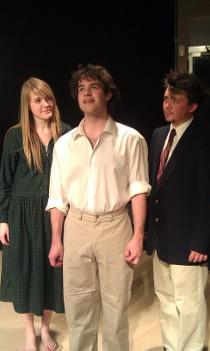 Haley Nellis, Garrin Jost, and Aaron Lord in Spring Awakening