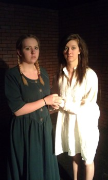 Myka Walljasper and Becca Meumann in Spring Awakening