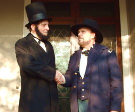 Tom Swenson and Daniel Ferguson Haughey in The Chronicles of Lincoln and Grant