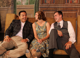 Eric Reyes, Melissa Pepper, and Daniel Pepper in Singin' in the Rain