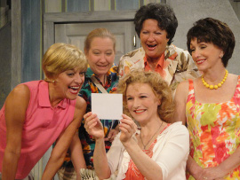 Carrie SaLoutos, Rachelle Walljasper, Serena Vesper, Autumn O'Ryan, and Lora Adams in The Dixie Swim Club