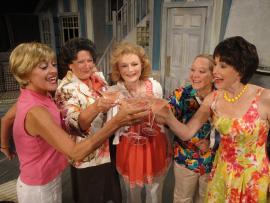 Carrie SaLoutos, Autumn O'Ryan, Serena Vesper, Rachelle Walljasper, and Lora Adams in The Dixie Swim Club