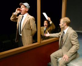 Jim Driscoll, Jason Platt, and Jonathan Grafft in The 39 Steps