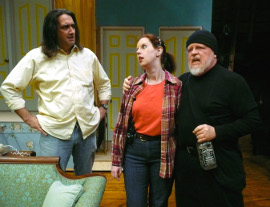 David Lane, Molly McLaughlin, and Stan Weimer in Noises Off