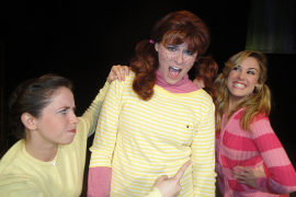 Danielle Barnes, Mariah Thornton, and Dani Westhead in Freckleface Strawberry: The Musical