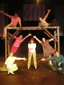 Danielle Barnes, Dani Westhead, Janos Horvath, Mariah Thornton, Tracy Pelzer-Timm, Brad Hauskins, and Don Denton in Freckleface Strawberry: The Musical