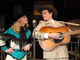 Nina Schreckengost and Jonathan Scott Roth in Hank Williams: Lost Highway