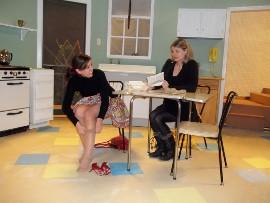 Jen Sondgeroth and Jenny Winn in Crimes of the Heart