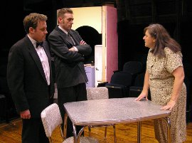 Justin Raver, Dana Moss-Peterson, and Jackie Skiles in Death of a Salesman