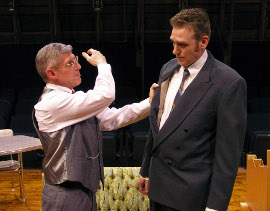 Jim Driscoll and Dana Moss-Peterson in Death of a Salesman