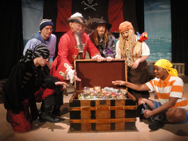 Chris Causer, Brad Hauskins, Janos Horvath, Sarah Hayes, Nikki Savitt, and Antoinette Holman in How I Became a Pirate