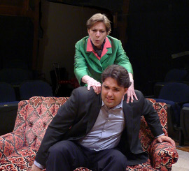 Jackie Patterson and Nathan Johnson in 100 Lunches: A Gourmet Comedy