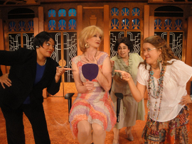 Whitney Hayes, Erin Fish, Eleonore Thomas, and Megan Opalinski in Menopause: The Musical