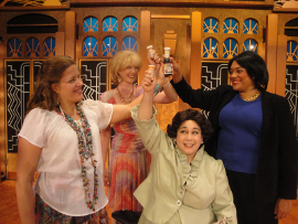 Megan Opalinski, Erin Fish, Eleonore Thomas, and Whitney Hayes in Menopause: The Musical