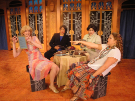Erin Fish, Whitney Hayes, Eleonore Thomas, and Megan Opalinski in Menopause: The Musical
