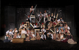 the Les Miserables ensemble
