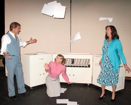 Kevin Pieper, Jenny Winn, and Valeree Pieper in 9 to 5: The Musical