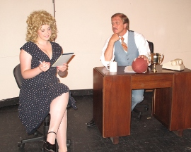 Elisabeth Gonzalez and Kevin Pieper in 9 to 5: The Musical